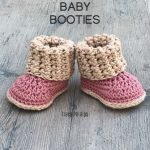 Cuffed Baby Booties- Crochet PATTERN- Sizes 0-12 Months- by A Frayed Knot Boutique