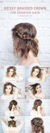 Cute Easy Frisuren für kurze glatte Haare,  #Cute #Easy #Frisuren #für #Glatte #Haare #kurze
