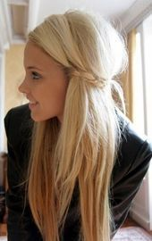 Cute Girls Hairstyles: Bride with Straight Long Hair