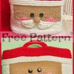 Cute Knit Santa Basket - Free Pattern