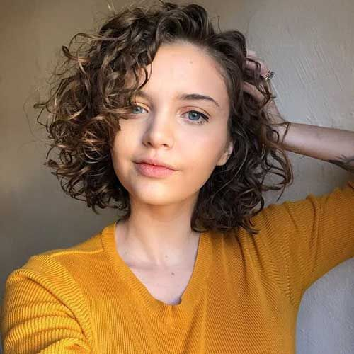 Cute Short Curly Hairstyles for Sweet View