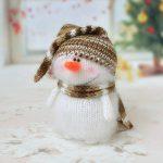Cute Snowman Hand-knitted toy Amigurumi Miniature Crochet Art Dolls Christmas Ornament toys Handmade Winter gifts Stuffed Easter decor