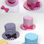 Cute fun Diamond mini top hat; 5 DIY printable. Easy to make