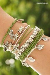 DIY Armbänder selber machen: flechten, aus Leder, mit Perlen – häkel – #Armbä…
