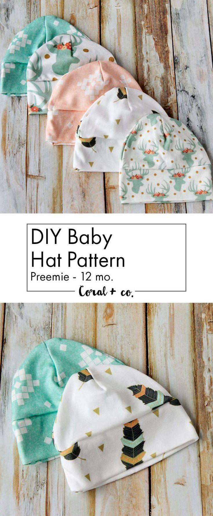 DIY Baby Mütze Schnittmuster und Tutorial – Strick Baby Mütze