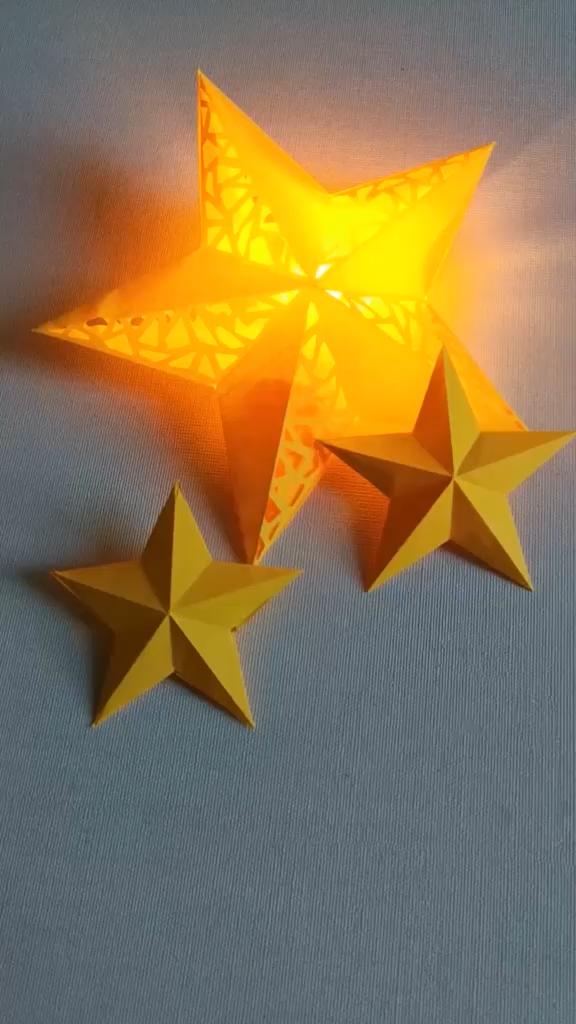 DIY Christmas Star Lights