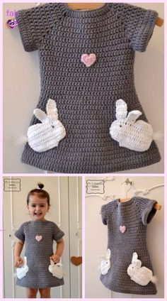 DIY Crochet Beehive Baby Dress And Hat – FREE Pattern