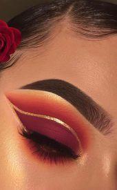DIY Eye Makeup Sparkling Magic Gold Glitter   – My Board – #Board #DIY #eye #Gli…