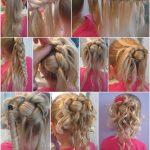 DIY Feder geflochtene Brötchen für Blumenmädchen Frisur