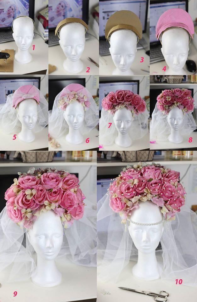 DIY Rosen-Headpiece Bastelanleitung von Rekii – Make Up & Fotos www.rekii-fotogr…