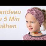 DIY Stirnband Bandeau Haarband nähen für Anfänger Nähanleitung - YouTube