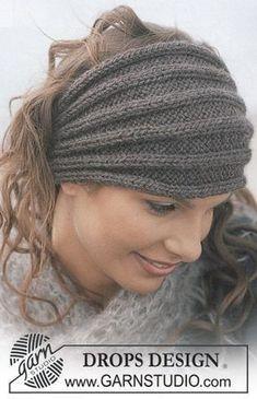 DROPS headband in Alaska and scarf in Vienna Kost … – #Alaska #DROPS #headband…