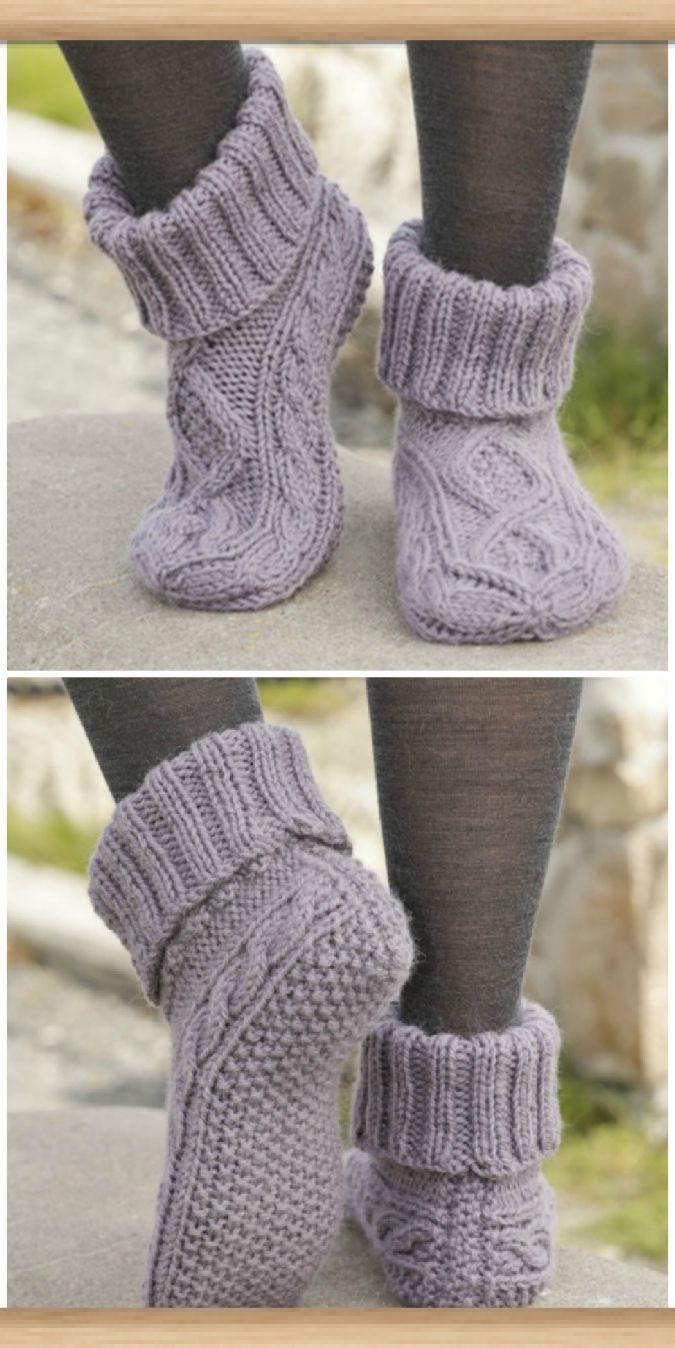 Damen gestrickte Slipper Stiefel kostenlose Muster, die Sie lieben werden  #Dame…