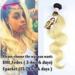 Dark root colored two tone Ombre Blonde Brazilian Hair ...- Dunkle wurzel farbig...