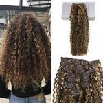 Der perfekte Moresoo 12 Zoll Afro Kinky Curly Clip in Echthaar Extensions Dunkel...