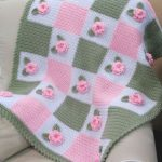 Details about VICTORIAN 'AUDREY ROSE' Baby Crochet Afghan PATTERN 3-D