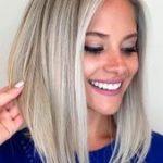 Dickes Haar kann geschnitten   werden, um sexy mittlere Frisuren aufrechtzuerhal...