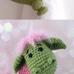 Dragon curtain tie back crochet PATTERN, tieback, left or right side crochet pattern PDF instant download amigurumi PATTERN - Love Amigurumi