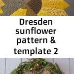 Dresden sunflower pattern & template 2