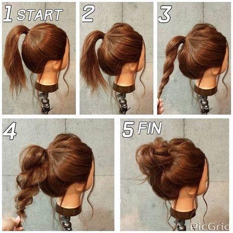 Easy Casual Hochsteckfrisuren für langes Haar