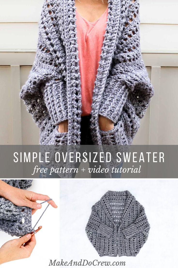 Easy, Chunky Crochet Sweater – Free Pattern