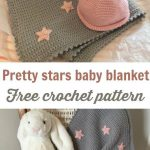 Easy Crochet Baby Blanket Pattern Grey With Stars
