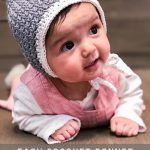 Easy Crochet Baby Bonnet - free modern pattern + tutorial (newborn-6 yrs)