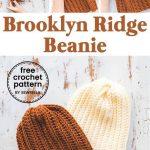 Easy Crochet Brooklyn Ridge Hat - free pattern