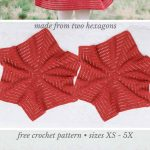 Easy Crochet Cardigan Video Tutorial - free pattern made from two hexagons