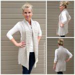Easy Shawl Collar Long Vest Crochet Pattern Style No.935 Digital ePattern Instant Download PDF DIY E