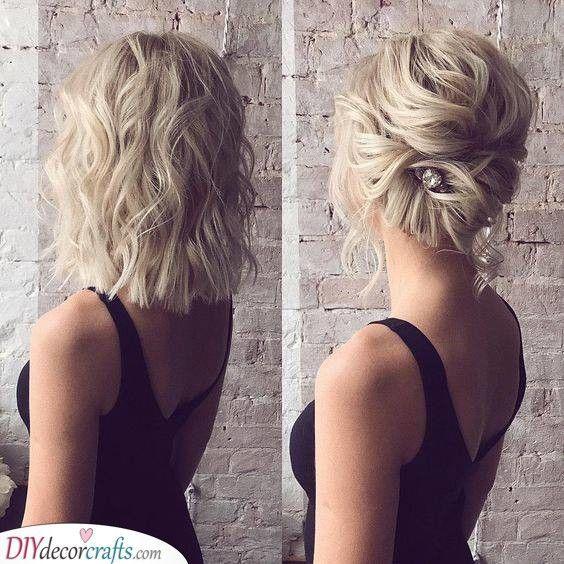 Easy Twist – wedding hairstyles for medium-length hair