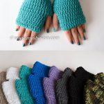 Easy fingerless gloves - free pattern