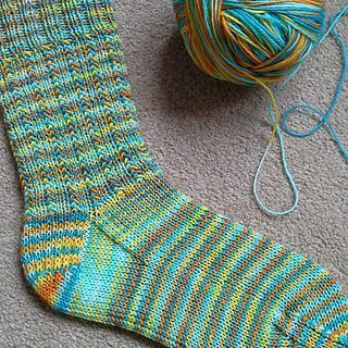 Echo Beach Sock is another FREE quick to knit design, with an easy to memorise s…