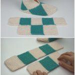 Einfach, Pantoffeln zu falten - zu häkeln oder zu stricken