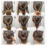 Einfache Frisur Ideen für mittleres Haar