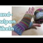 Einfache Handstulpen häkeln / Fingerlose Handschuhe, Pulswärmer - YouTube