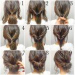 Einfache Hochsteckfrisuren für kurzes Haar