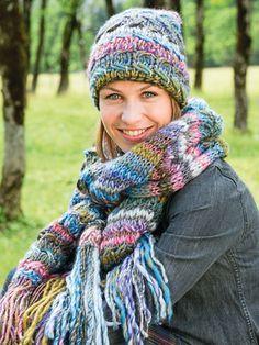 Einfache Strickanleitung für Schal und Mütze #beaniehats An kalten Tagen verla…