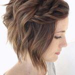 Einzigartige Frisur für kurze Haare Braid #hair #pelocorto #geflochtenekurze #d...  #braid #E...