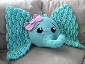 Elefanten Kissen häkeln #crochetelephantpattern Elefanten Kissen häkeln #muste…