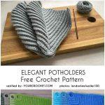 Elegant Potholders Free Crochet Pattern