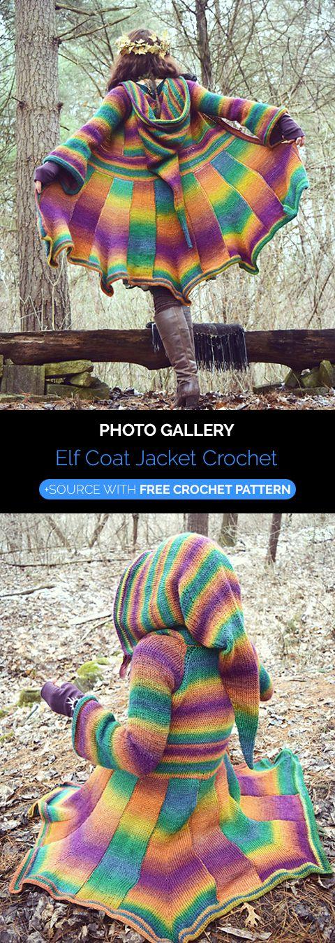 Elf Coat Jacket Crochet