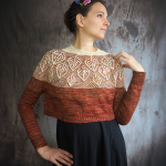 Enchanted forest jumper pattern by Knits with chocolat
