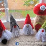 English, Spanish, Dutch, German, Italian and French Instructions - Instant Download PDF Crochet Pattern - Little Gnomes with Mushroom Houses