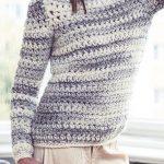 Extrawarm: Gehäkelter Pullover aus superdickem Garn - Initiative Handarbeit