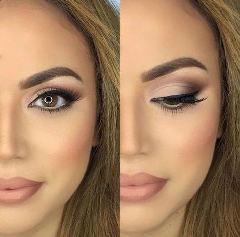 Eye Makeup  30 Wedding Makeup Ideas for Brides  Bridal Glam  Romantic make up #e…