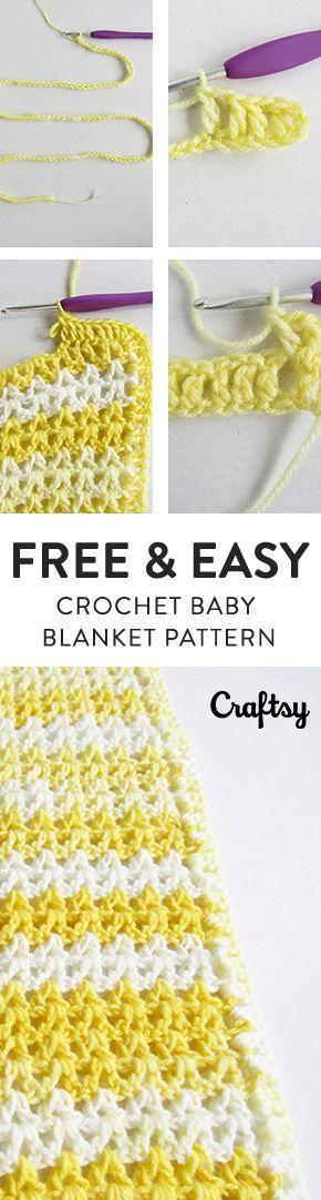 FREE, Fast & Easy Crochet Baby Blanket Pattern for Beginners