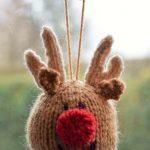 FREE Reindeer Bauble Knitting Pattern