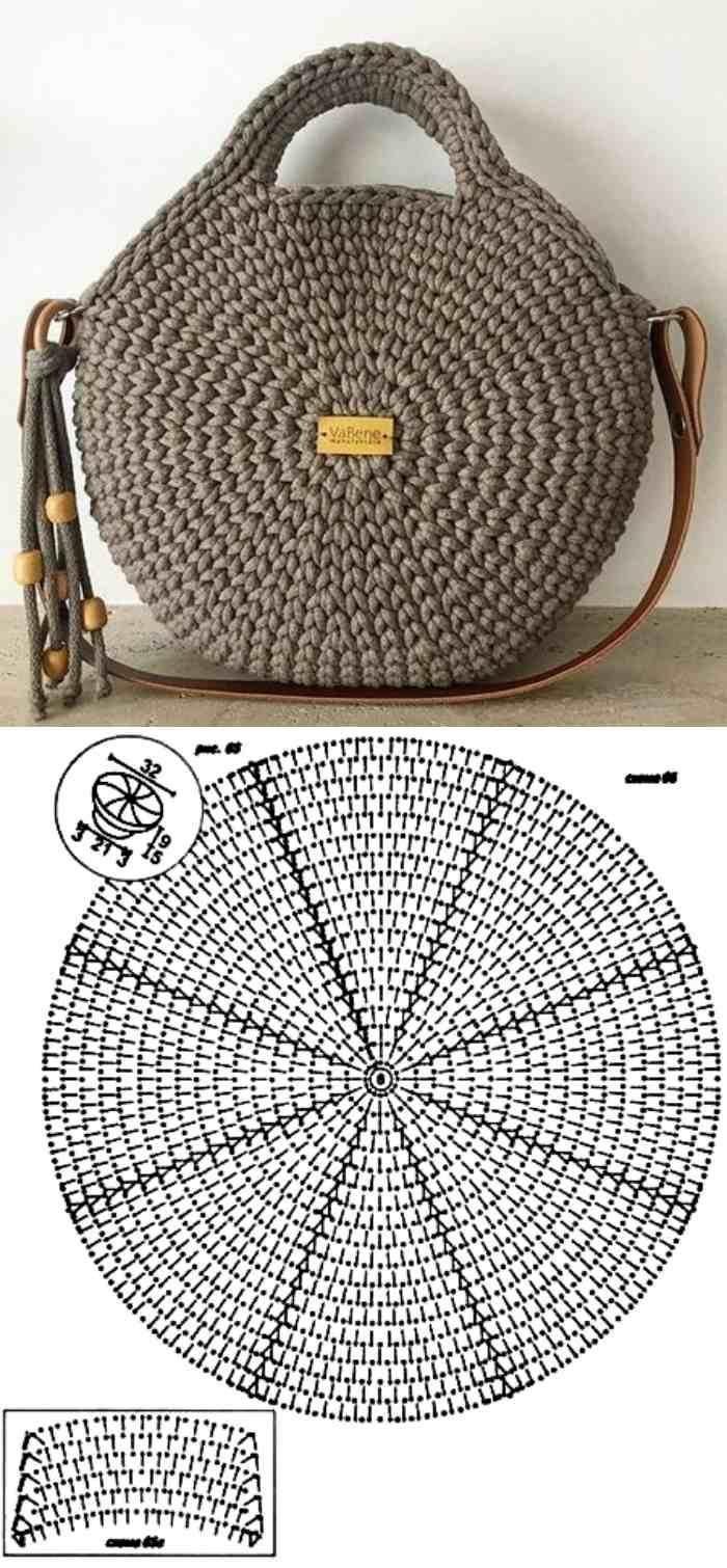 Faça e lucre: 26 modelos de bolsa de crochê com gráfico #tejidos 26 Lindos mo…