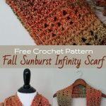 Fall Sunburst Infinity Scarf - Free Crochet Pattern - Cashmere Dandelions